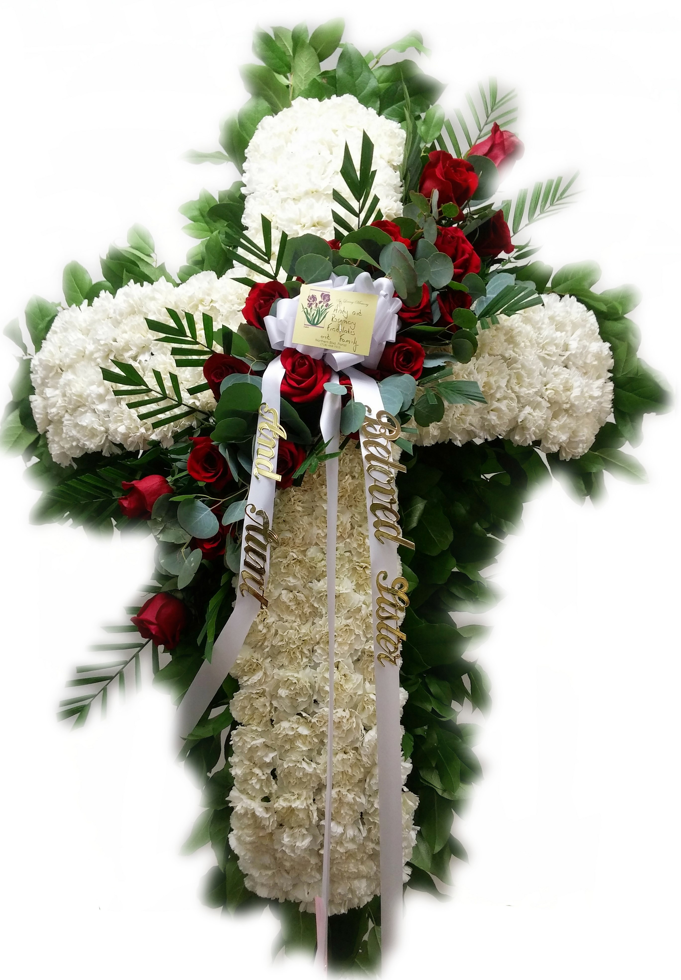 Chun fook funeral home florist flushing ny standing crosses custom funeral arrangements izmirmasajfo